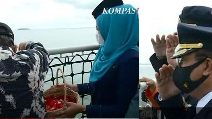 TABURKAN BUNGA, Tangis Keluarga Korban Sriwijaya Air Pecah, Mata Sembab Hingga Pilu Pandangi Lautan