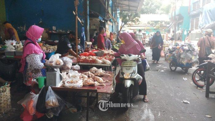 Pedagang Pasar di Jakarta Sudah Hampir Semua Pakai Masker, Tapi Baru 53 Persen yang Memakainya Benar