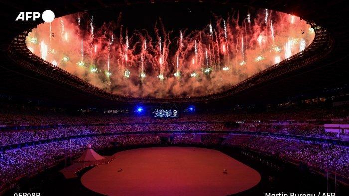 Suasana Opening Ceremony Olimpiade Tokyo 2020.