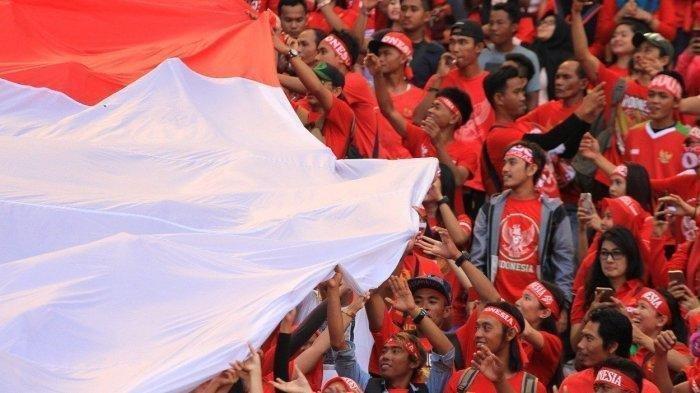 Ilustrasi supporter Timnas Indonesia