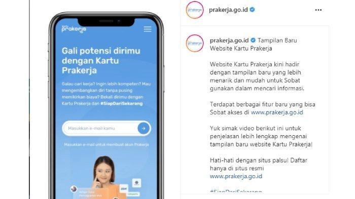 Tampilan dan fitur baru website Kartu Prakerja.