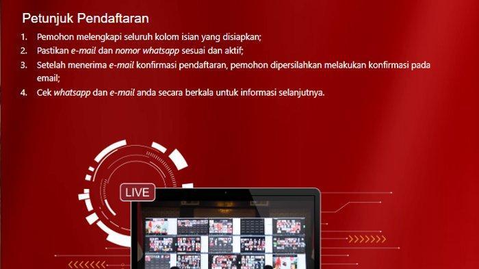 Cara Ikut Upacara Virtual HUT ke-76 RI di Istana Negara, Daftar di pandang.istanapresiden.go.id