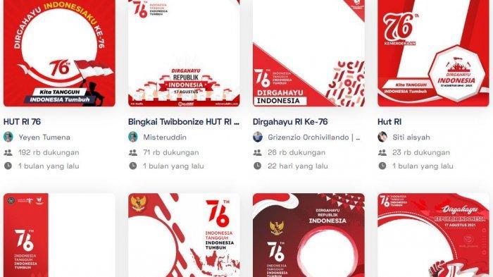 20 Link Twibbon, Buat Kartu Ucapan Selamat HUT ke-76 RI Sendiri via Twibbon, Berikut Cara Mudahnya