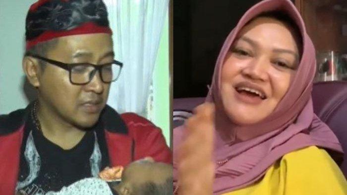 Teddy Pardiyana bersama buah hatinya hasil pernikahan dengan mendiang Lina Zubaedah
