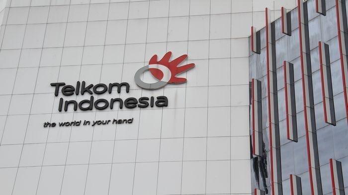 Potret gedung Telkom Indonesia.