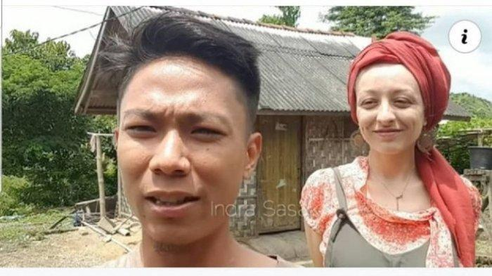 NIKAHI Pria Lombok, Bule Prancis Ini Tetap Bahagia Tinggal di Gubuk Sederhana, Dinding Anyaman Bambu