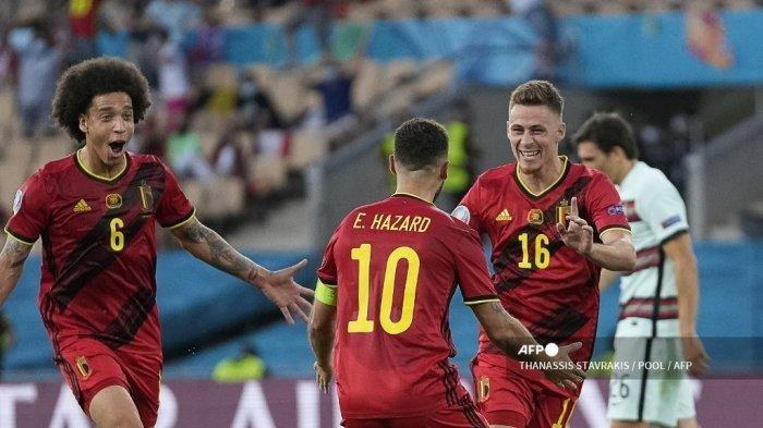 HASIL Pertandingan Belgia vs Portugal Euro 2020, Tim Cristiano Ronaldo Kalah 1-0 dari Hazard Cs