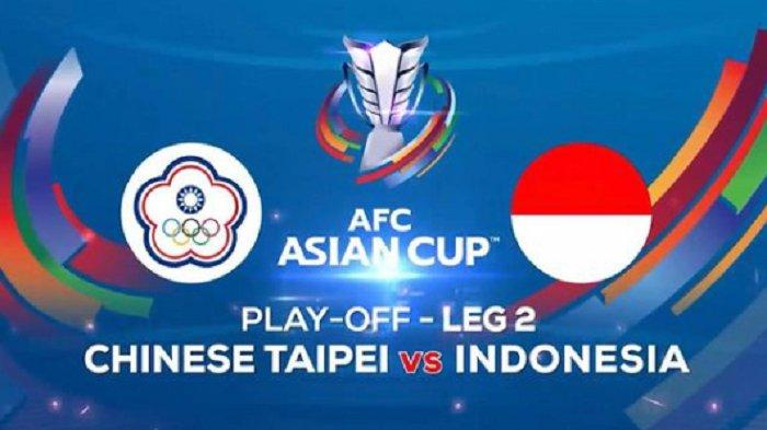 LIVE MATCH Timnas Indonesia vs Taiwan Leg 2 Play Off Kualifikasi Piala Asia 2023 di Indosiar
