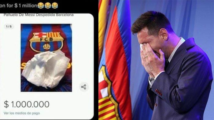 HEBOH Tisu Bekas Ingus Lionel Messi, Dijual Seharga Rp 14 Miliar, Penjual Klaim Ini Keuntungannya