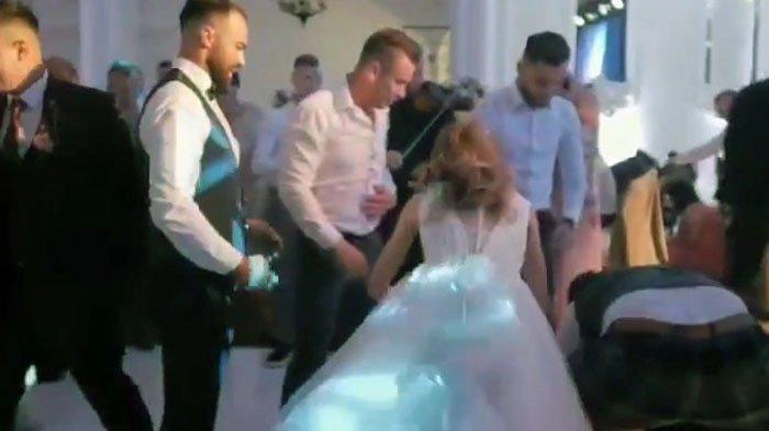 Rayakan Pesta Pernikahan, Mempelai Pria Dilempar dan Gagal Ditangkap, Nahas Alami Patah Tulang
