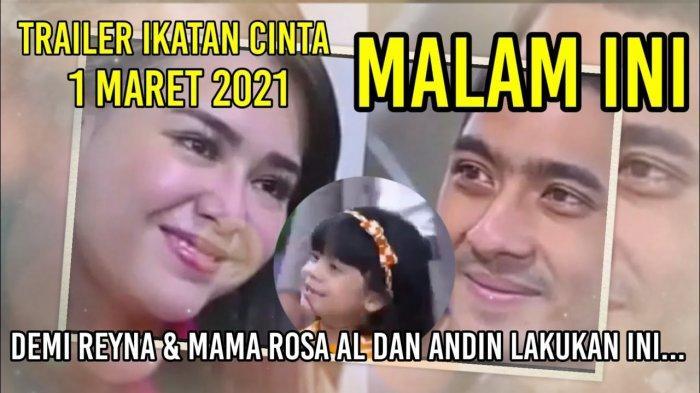 LIVE STREAMING & Video Trailer Ikatan Cinta 1 Maret 2021: Rendy Menyerang Nino, Elsa Menuduh Andin!