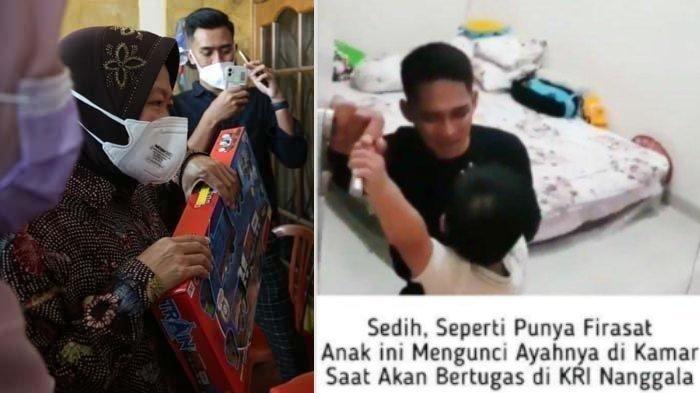 Tri Rismaharini kunjungi anak Lettu Imam Adi, sang ayah jadi korban tenggelamnya KRI Nanggala