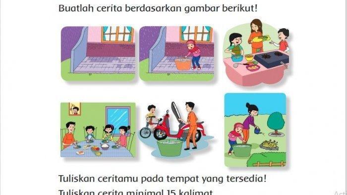 Gambar Menunjukkan Pemanfaatan Air Hujan, Tuliskan Cerita Minimal 15 Kalimat! Jawaban Tema 6 Kelas 3