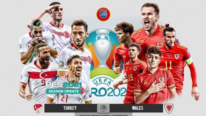 LIVE STREAMING Turki vs Wales Euro 2020, Tonton Aksi Pamungkas Aaron Ramsey danGareth Bale Cs
