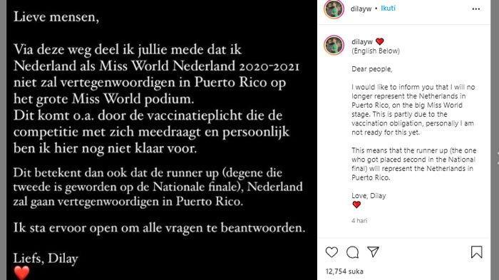 Unggahan Dilay ratu kecantikan Belanda