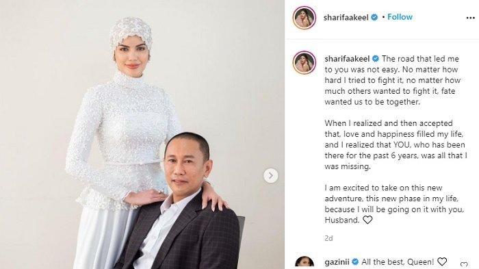 Unggahan Sharifa tentang pernikahan kontroversinya