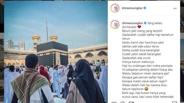 Unggahan Shireen Sungkar rindu Kab'bah di momen Idul Adha 2021