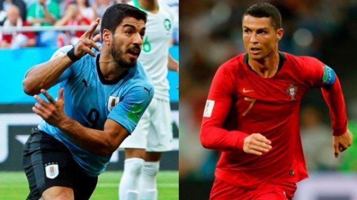 Bintang bola Uruguay vs Portugal