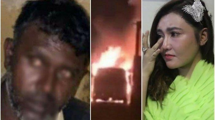 VIA VALLEN Meradang Mobil Dibakar Dituding Rekayasa, Inul, Arie Untung, Ikut Kaget: 'Astagfirullah!'
