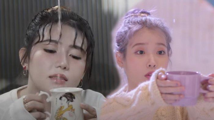 Via Vallen dalam video klip lagu Kasih Dengarkanlah Aku dan IU dalam klip Above The Time.