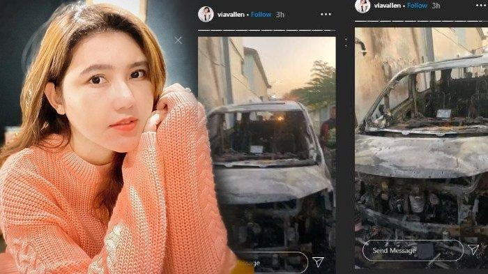 Viral Video Mobil Via Valen Dibakar Orang, Kini Mobil Sudah Tak Berbentuk, Pelaku Telah Ditangkap