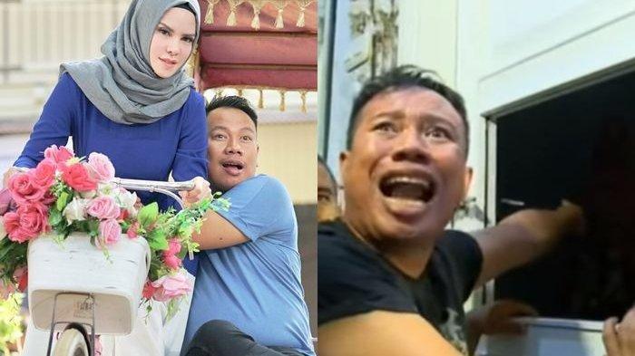 Insiden saat Vicky Prasetyo menggerebek Angel Lelga dan menuduhnya selingkuh dengan Viky Alman, tapi tak terbukti di pengadilan (kanan) dan foto kenangan saat keduanya masih mesra