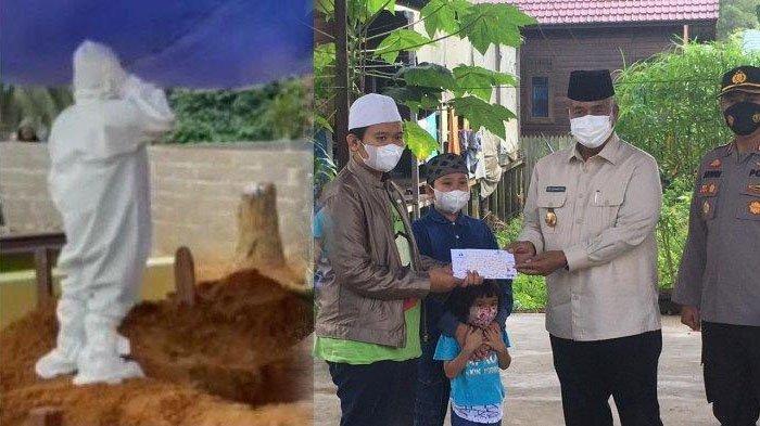Ortu Wafat Kena Covid, 4 Anak Jadi Yatim Piatu, Video Azan di Makam Viral, Jokowi Terenyuh Kirim Ini