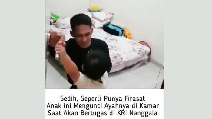 Video pilu Lettu Imam Adi dihalangi sang anak saat pamit sebelum tragedi KRI Nanggala