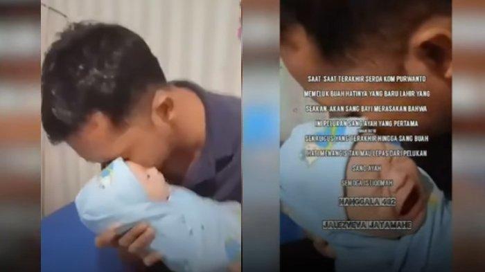 BAK Pertanda Reaksi Bayi Awak Kapal KRI Nanggala saat Diazani Ayahnya, Rupanya Pelukan Terakhir