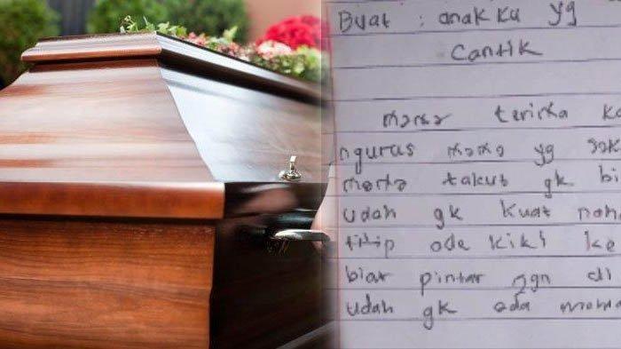 'Sedih Bacanya', 56 Hari Ibu Meninggal, Anak Baru Temukan Surat Wasiat, Isinya Pilu: Mama Takut