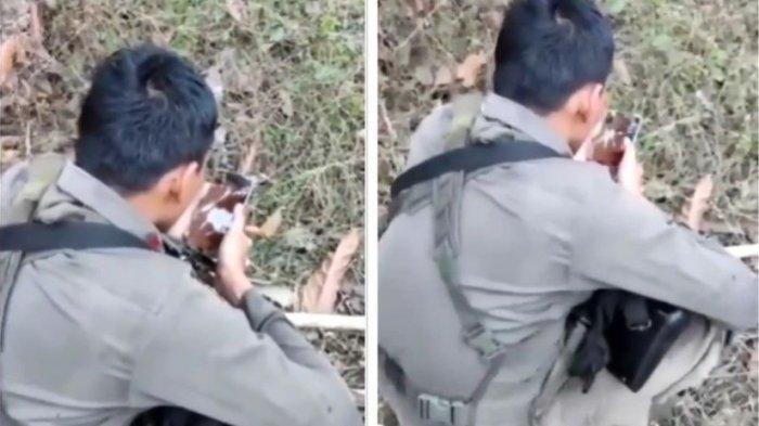 Viral Video Anggota Brimob Tahan Tangis Azani Anaknya yang Baru Lahir, di Hutan Saat Buru Teroris