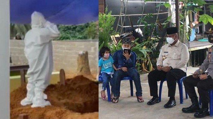 Viral bocah azan di makam ibunda yang meningal akibat Covid-19