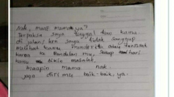 Viral Bocah Dibuang Orangtua bersama Surat, Saat Dikonfirmasi Ibu Sebut Anak Nakal & Suka Mencuri