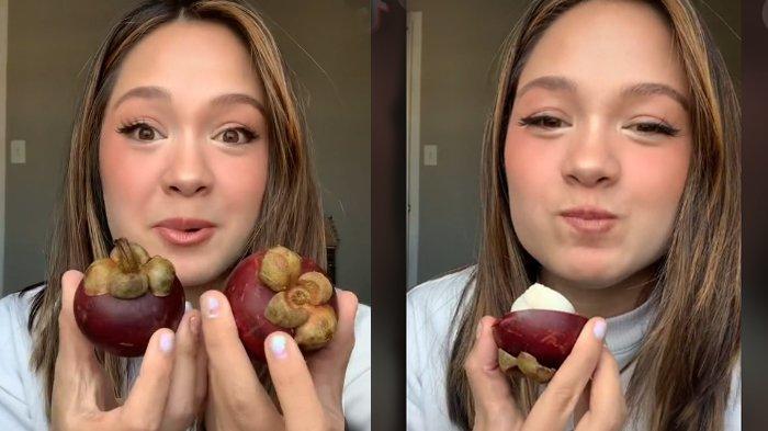 VIRAL Reaksi Bule Pertama Kali Makan Buah Manggis, Sebut Bawang Putih Manis, Cara Mengupas Disorot
