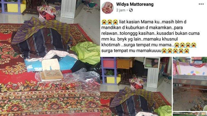 'TOLONG Jenazah Mamaku Belum Dimandikan & Dikuburkan' Tangis Widya Tahu Ibu jadi Korban Gempa Mamuju
