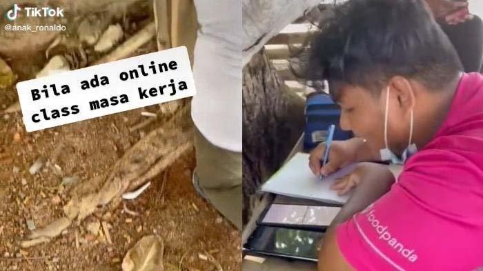 Viral Kisah Pemuda Tekun, Kuliah Online Sekaligus Kerja Antar Makanan, Ini Cerita Lengkapnya