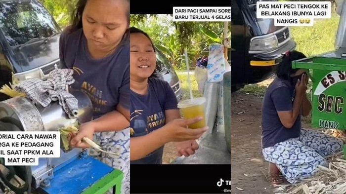 Dibayar Rp 500 Ribu untuk 1 Cup Es Tebu, Pedagang Kaget dan Menangis Sesenggukan, Ini Cerita Pembeli