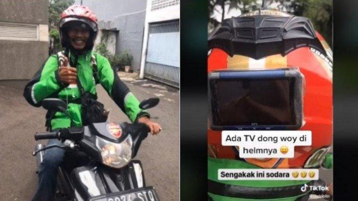 VIRAL Abang Ojol Ini Manjakan Pelanggan dengan Fasilitas 'Bintang 5', dari Powerbank hingga TV