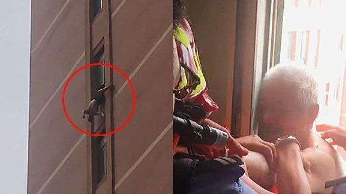 Sengaja Dikurung, Kakek Nyaris Jatuh dari Apartemen 10 Lantai, Beruntung Kaki Nyangkut di Jendela