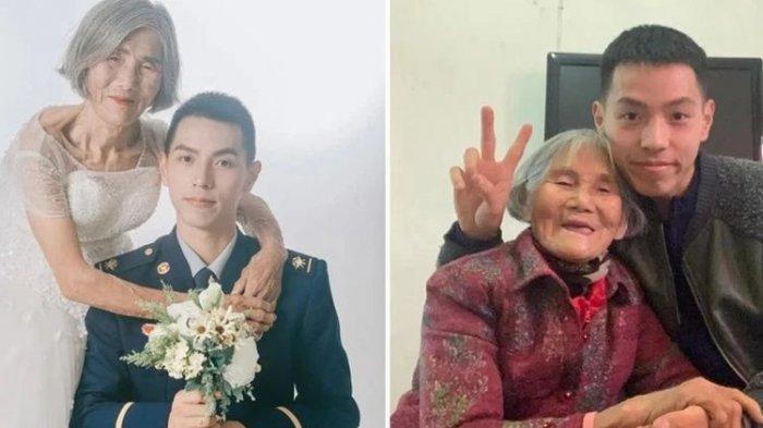 VIRAL 'Foto Pernikahan' Pria 24 Tahun dan Nenek 85 Tahun, Senyum Manis, Ada Kisah Pilu di Baliknya