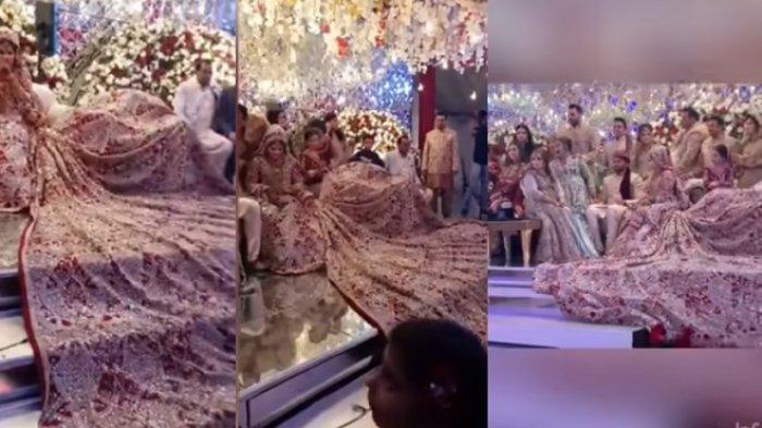 KONTRAS Mempelai Wanita Tampil Mewah Bak Ratu, Pengantin Pria 'Biasa Saja', Foto-fotonya Viral