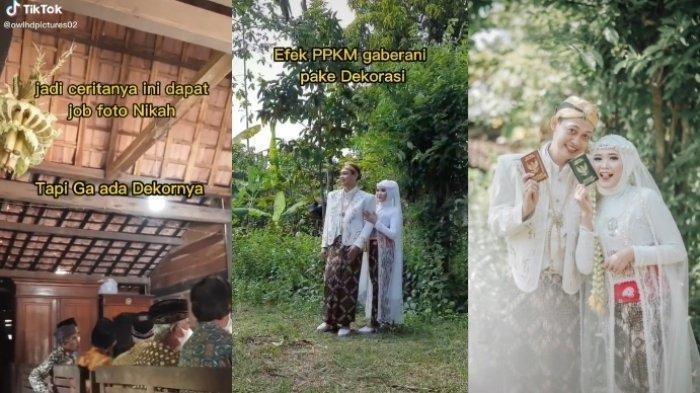 VIRAL Pengantin Menikah Tanpa Dekorasi, Foto di Semak-semak Dekat Kandang, Hasilnya Bikin Takjub!
