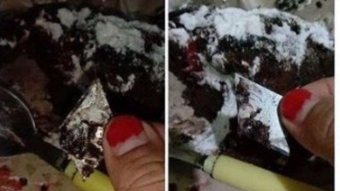 VIRAL Wanita Makan Kue, Syok Temukan Potongan Cutter, Nyaris Tertelan: Ya Allah Masih Dilindungi