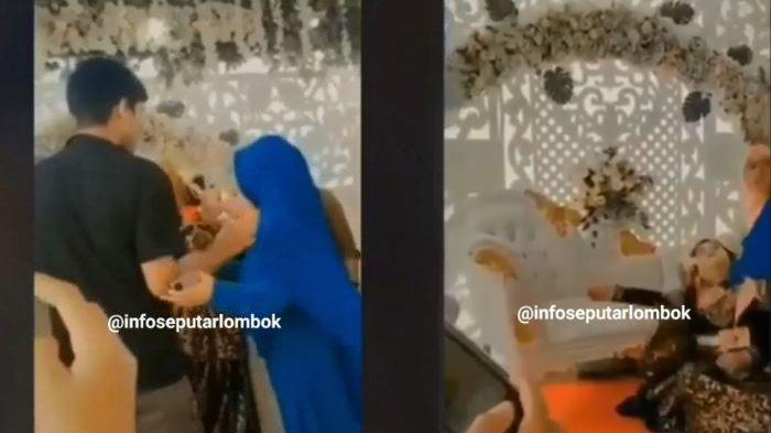 Viral Video Pengantin Wanita Menangis Histeris & Pingsan karena Didatangi Mantan, Berikut Faktanya