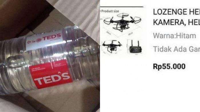 VIRAL Wanita Syok Buka Paket, Niatnya Beli Drone Rp 55 Ribu di Olshop, Tapi Malah Dapat Air Mineral