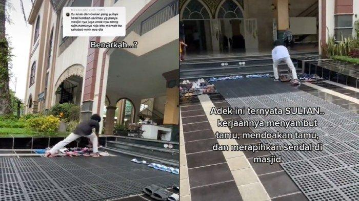 Viral pemuda selalu rapikan sandal jamaah masjid
