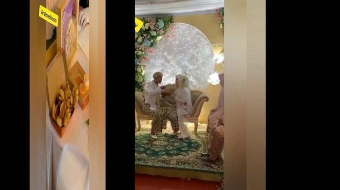Aksi Pengantin Beri Seserahan Tak Biasa ke Calon Istri, Bawa 1 Box Bakso Goreng, Pernikahannya Viral