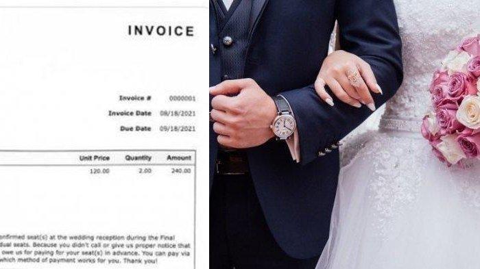 TAK MAU RUGI, Pengantin Ini Kirim Tagihan ke Tamu yang Batal Hadiri Pernikahannya: Harus Kau Bayar!