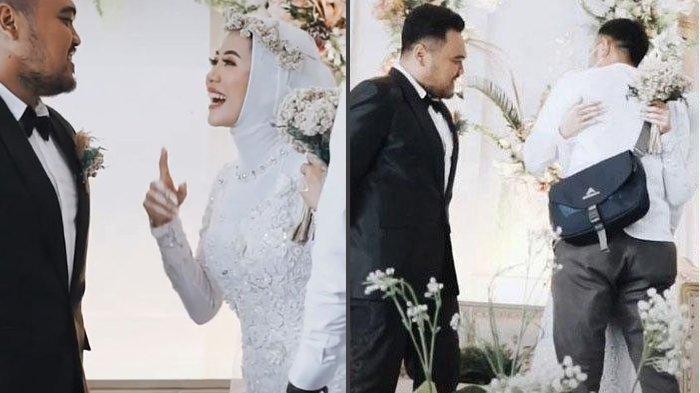 VIDEO Wanita Nekat Minta Izin Suami untuk Peluk Mantan Pacar di Pelaminan: Boleh Peluk Sekali Aja?