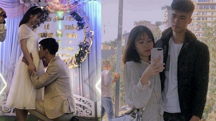Viral pengantin pria tiba-tiba mencium perut istrinya di hari pernikahan